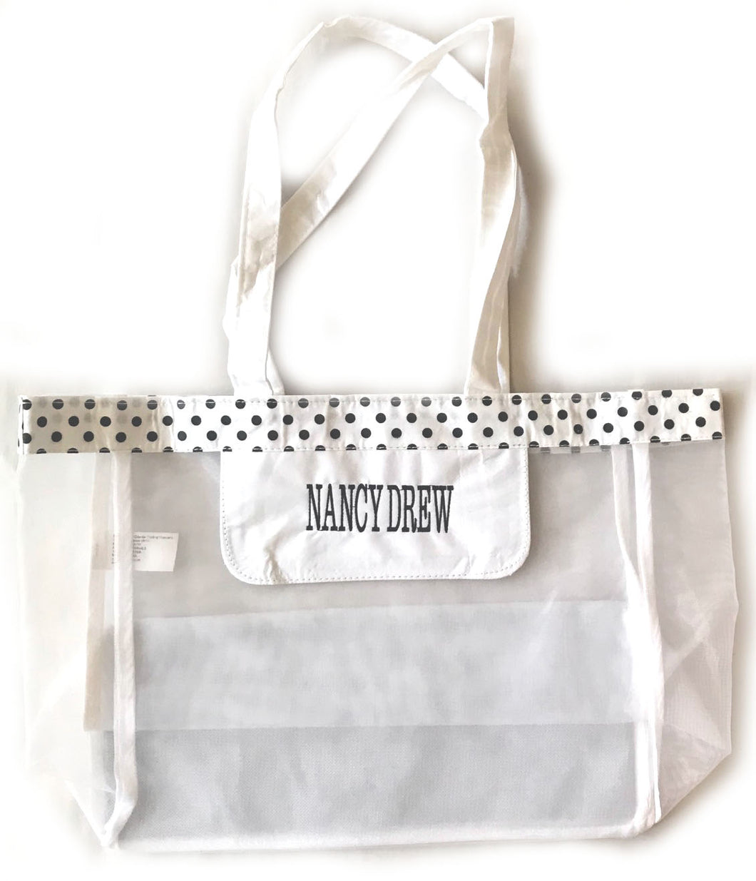Nancy Drew White & Black Polka Dot Tote