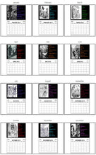 Load image into Gallery viewer, 2020 Nancy Drew Dastardly Villains Illustrations Calendar