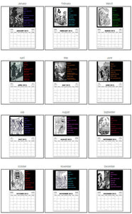 2021 Nancy Drew Dastardly Villains Illustrations Calendar
