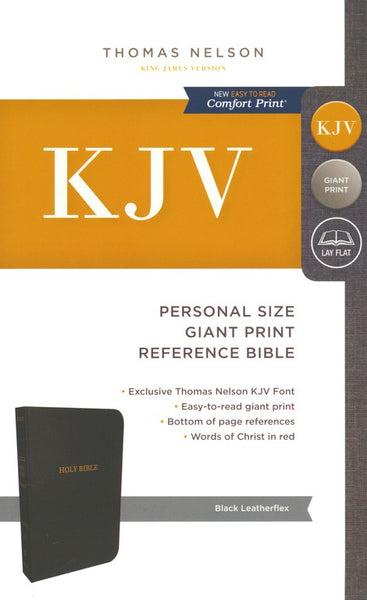 KJV Personal Size Reference Bible Giant Print, Leather-Look, Black