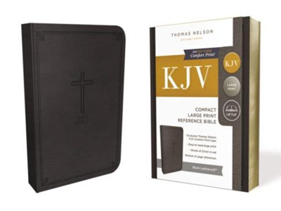 KJV Compact Reference Bible, Large Print, Leather-Look Black