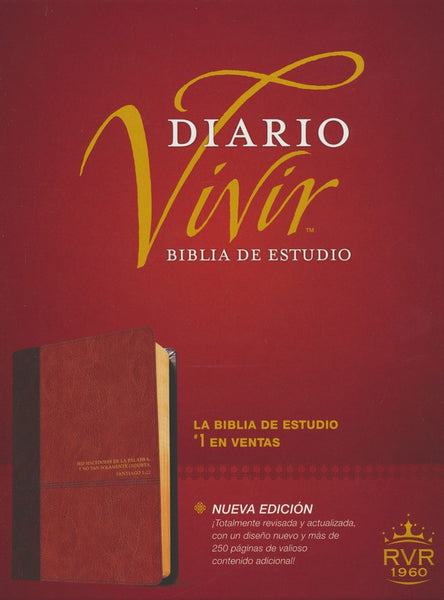 Biblia de estudio del diario vivir RVR60, DuoTono, Soft Imitation Leather, Tan