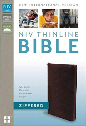 NIV, Thinline Bible Zippered, Bonded Leather, Burgundy Bonded Leather – Special Edition