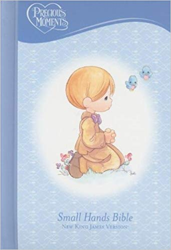 NKJV, Holy Bible, Precious Moments, Blue, Hardcover Hardcover – October 12,