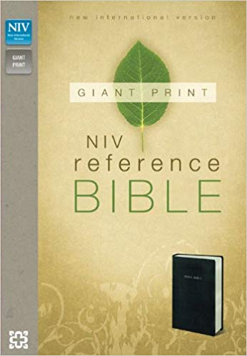 NIV, Reference Bible, Giant Print, Imitation Leather, Black Imitation Leather – Large Print