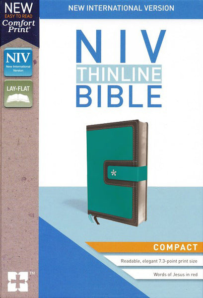 NIV Thinline Bible Compact Blue and Brown, Imitation Leather