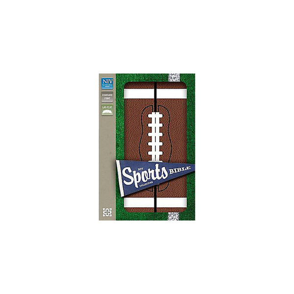 NIV, Sports Collection Bible: Football, Leathersoft, Brown/White
