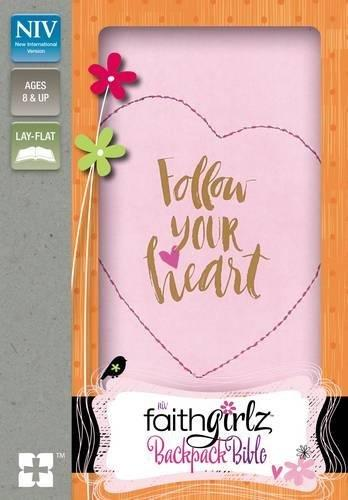 NIV, Faithgirlz Backpack Bible, Compact, Leathersoft, Pink  Zondervan