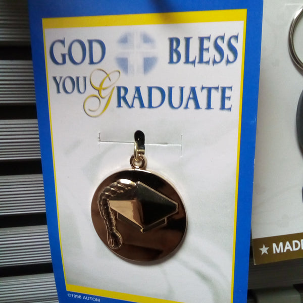 GOD BLESS YOU GRADUATE KEYCHAIN LLAVERO