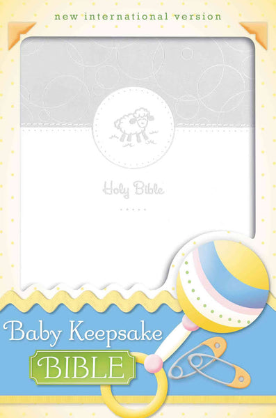 NIV, Baby Keepsake Bible, Leathersoft, White Imitation Leather