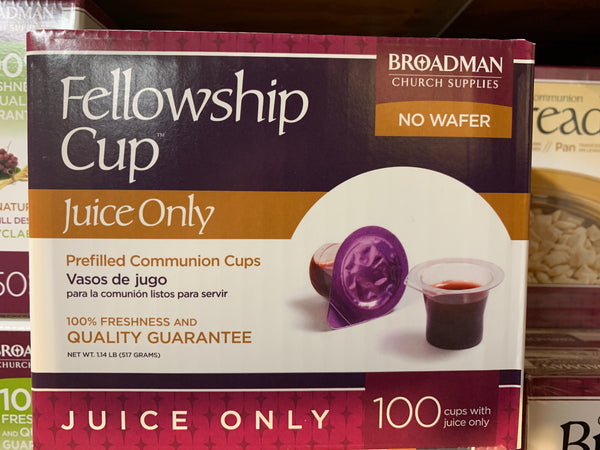 Fellowship Cups w/ Juice Only (100 Cups)