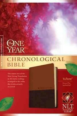 The One Year Chronological Bible NLT, TuTone (LeatherLike, Brown/Tan)