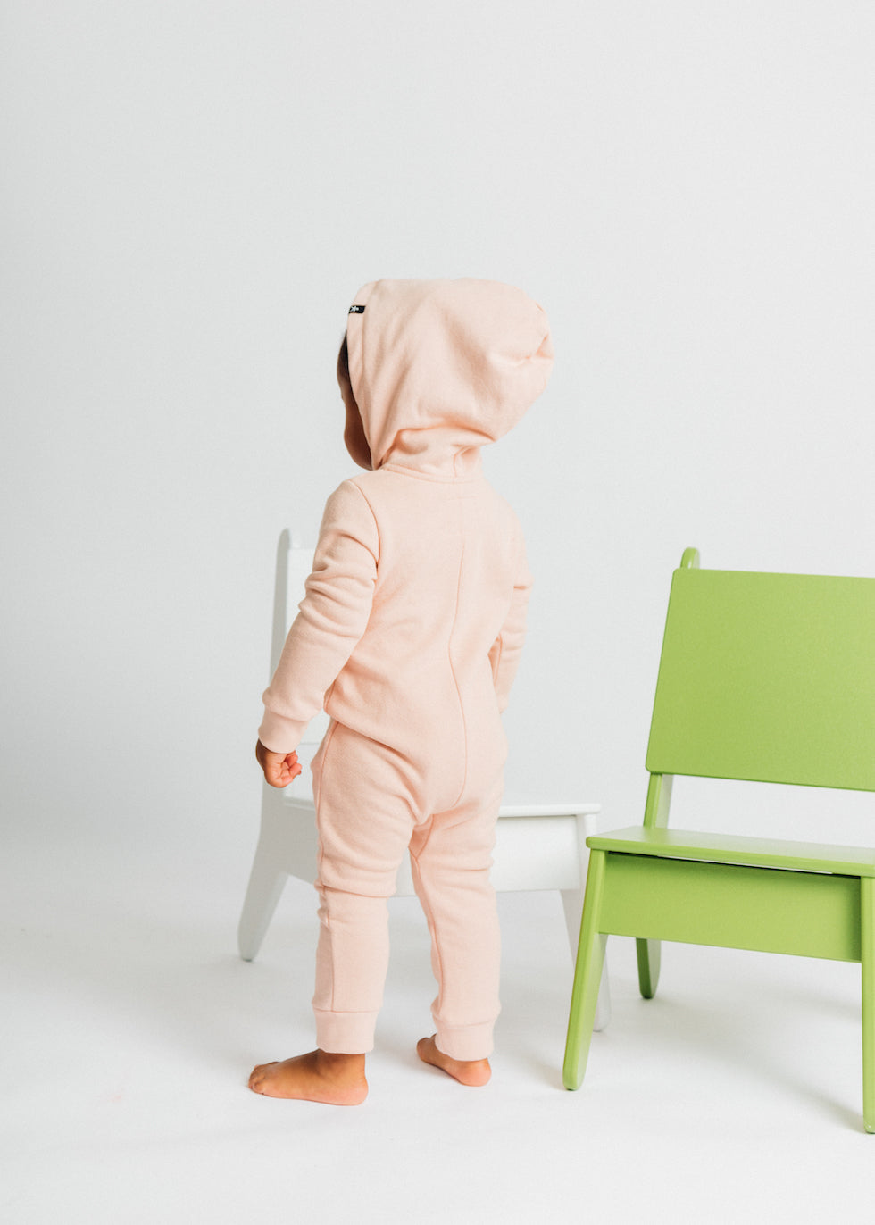 Hooded Romper - Just Pink