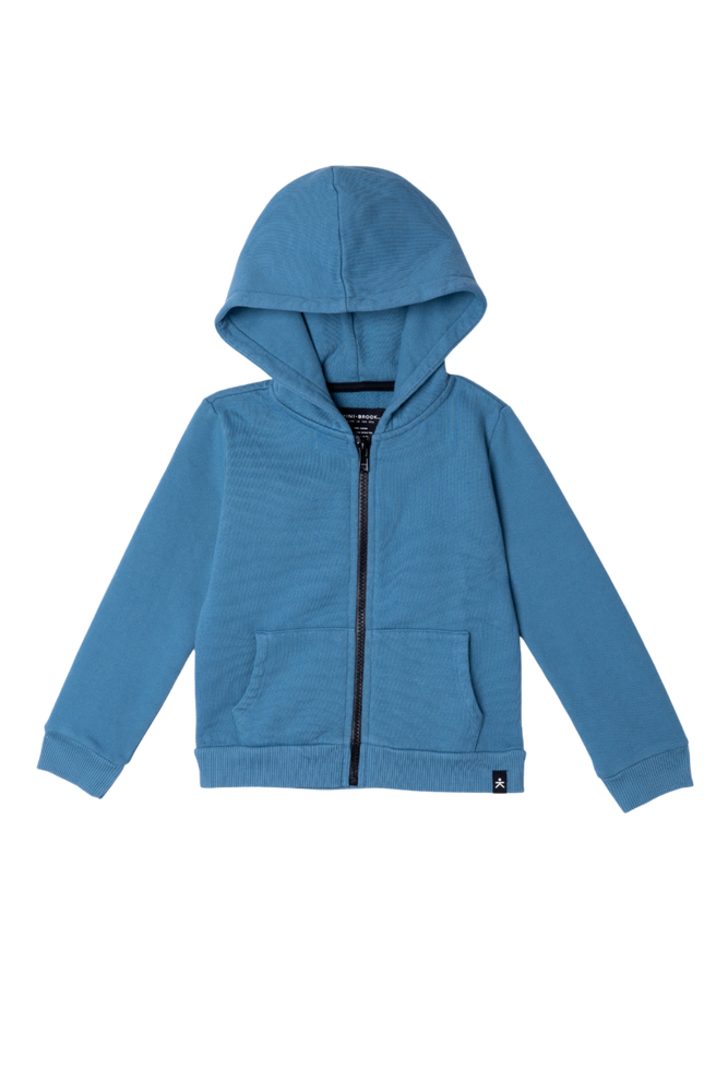 Zip-Up Hooded Jacket - Dusty Navy