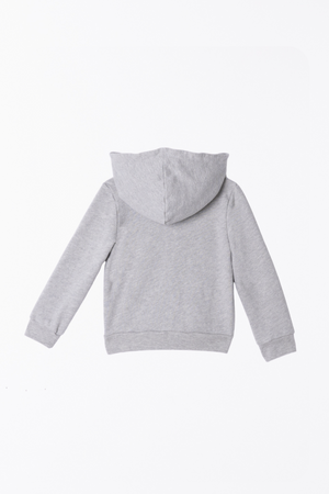 Zip-Up Hooded Jacket - Heather Grey