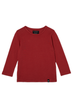 Long Sleeve Tee - Crimson