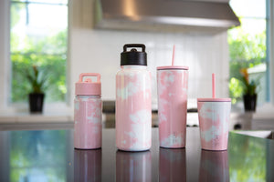 Summit Water Bottle - Just Pink Candy Stripes