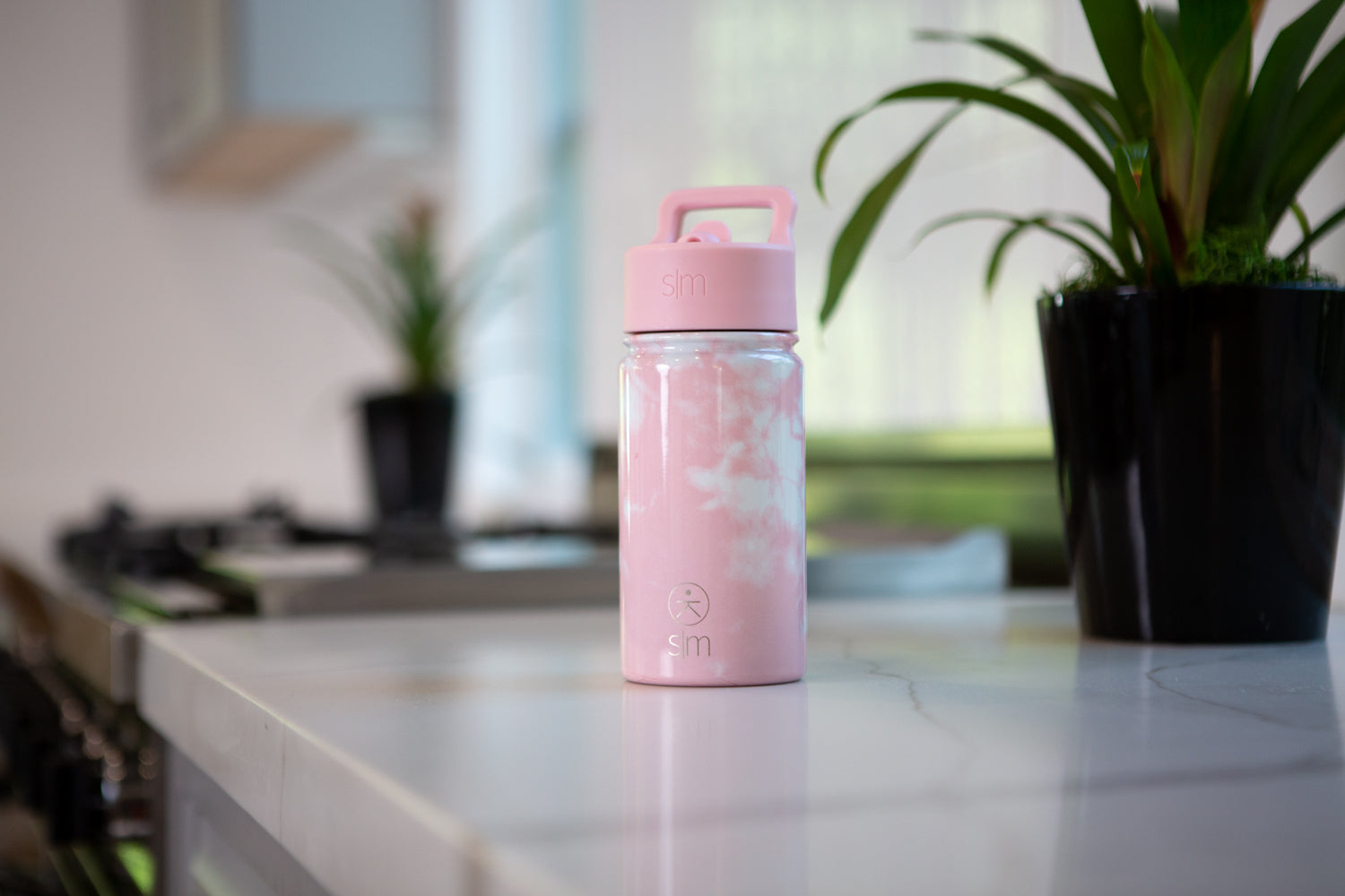 Summit Kids Water Bottle - Pink Tie Dye
