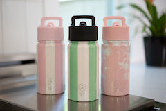 Summit Kids Water Bottle - Just Pink Candy Stripes