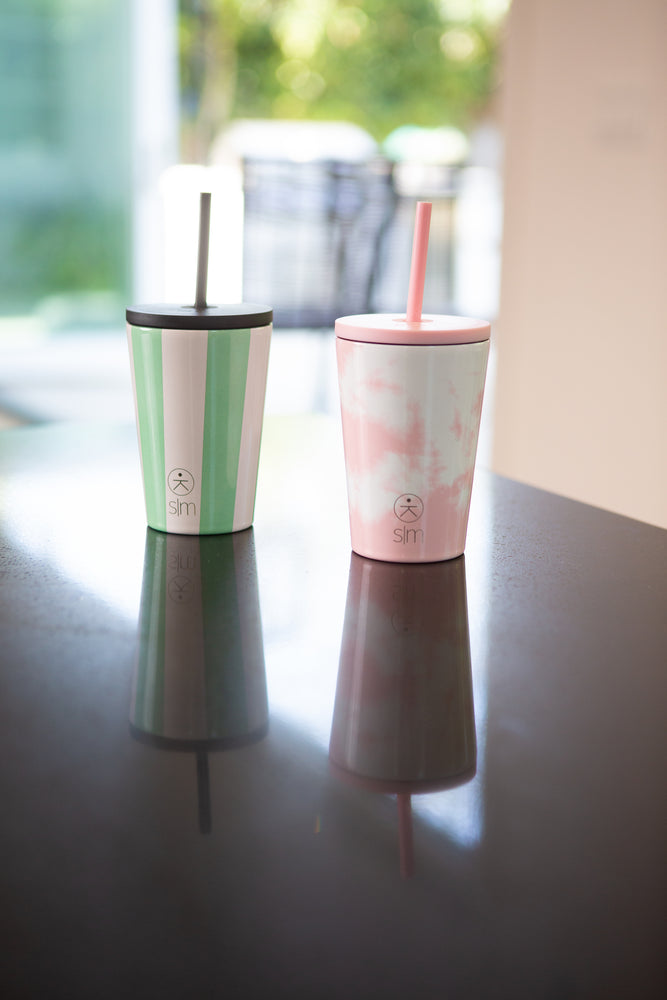 Kids Classic Tumbler with Lid and Straw - Pink Tie Dye