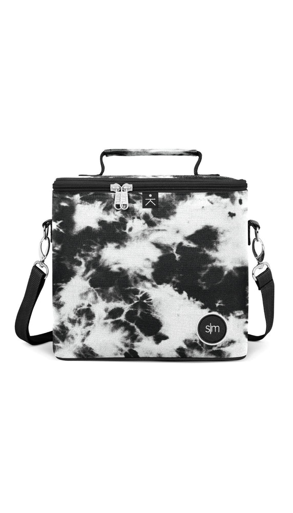 Blakely Lunch Bag - Black Tie Dye