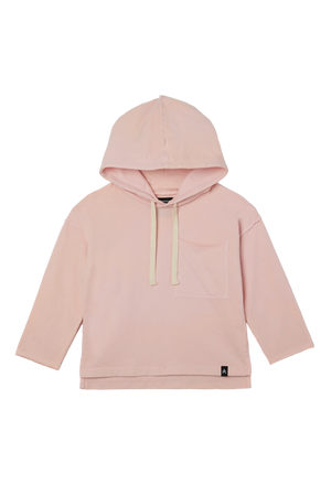 Load image into Gallery viewer, Drop Shoulder Hooded Pullover - Just Pink