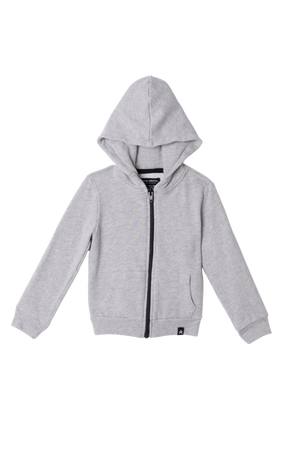 Load image into Gallery viewer, Zip-Up Hooded Jacket - Heather Grey