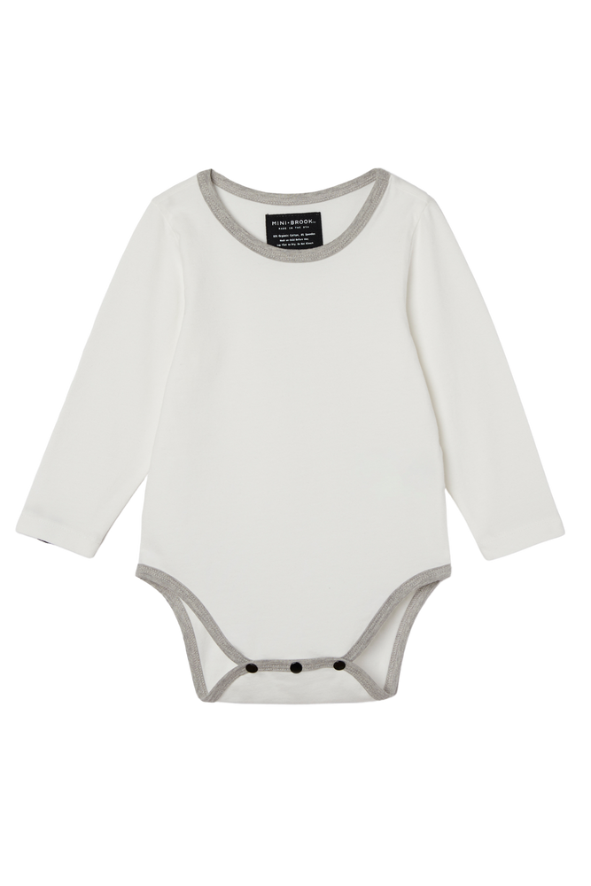 Long Sleeve Onesie - Cream
