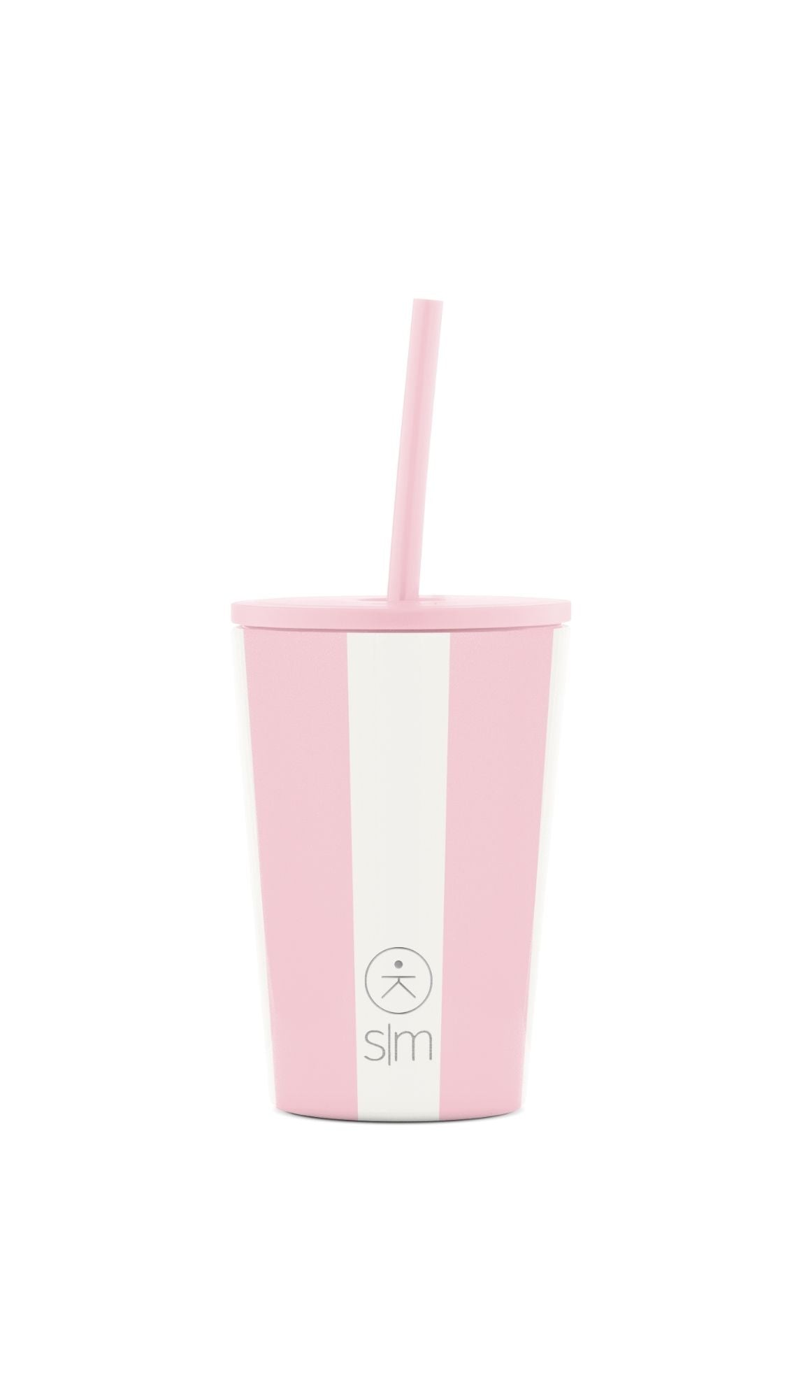 Kids Classic Tumbler with Lid and Straw - Just Pink Candy Stripes