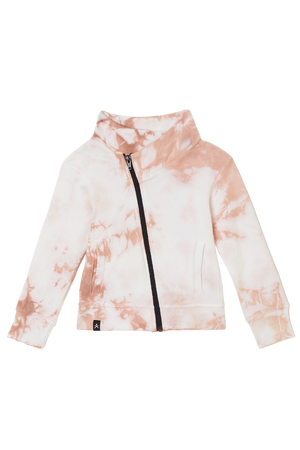 Funnel Jacket - Just Pink Tie Dye