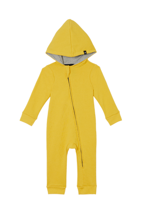 Load image into Gallery viewer, Hooded Romper - Marigold