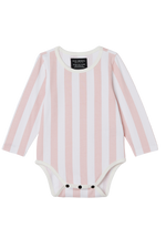 Long Sleeve Onesie - Pink Candy Stripes