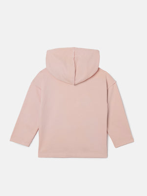 Drop Shoulder Hooded Pullover - Just Pink