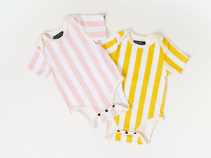 Load image into Gallery viewer, Onesie - Pink Candy Stripes