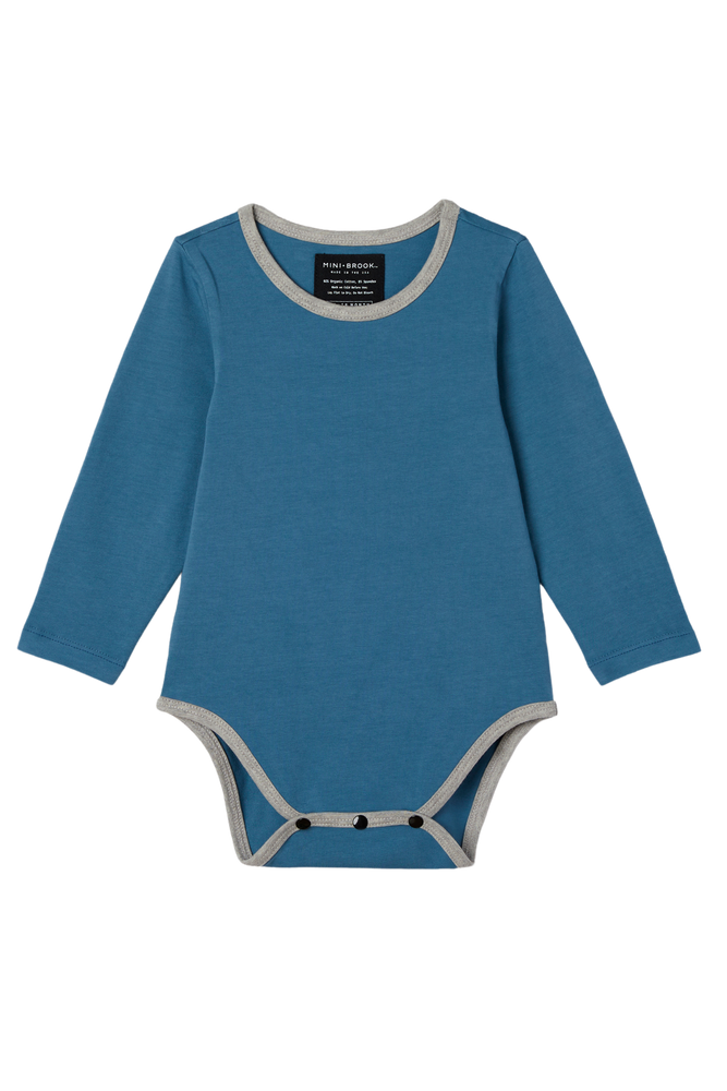 Long Sleeve Onesie - Dusty Navy