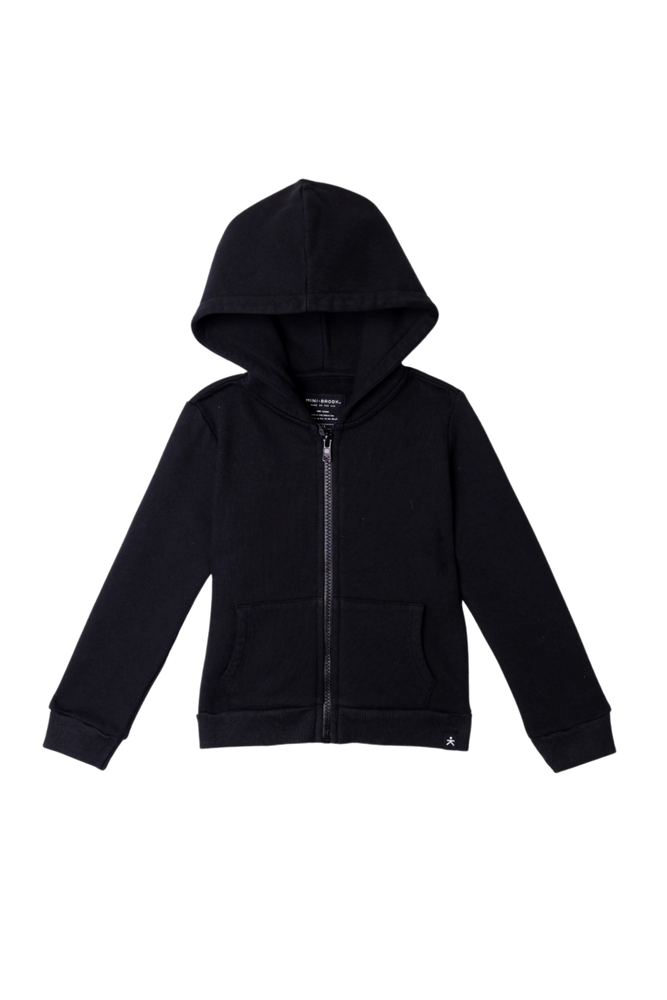 Zip-Up Hooded Jacket - Black
