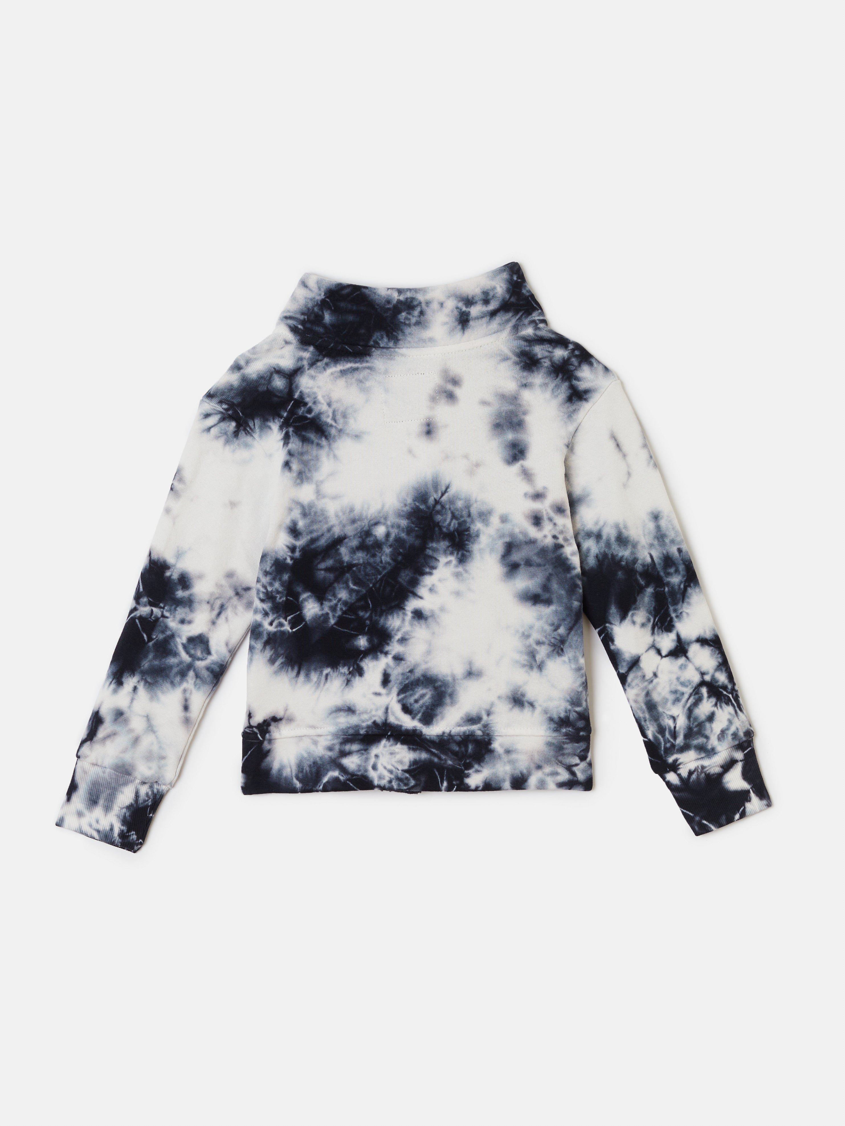 Funnel Jacket - Black Tie Dye