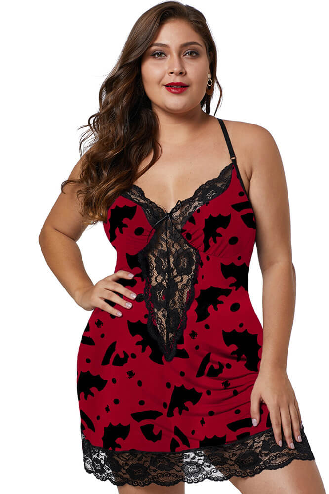 Rose Red Venecia Chemise with Lace Trim lingerie