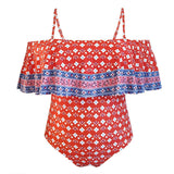 One-Piece Swimsuit Digital Print Sling Plus Size Swimwear