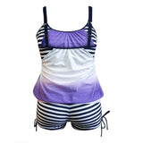 Tree Striped Print Sling Bikini Beachwear Swimwer