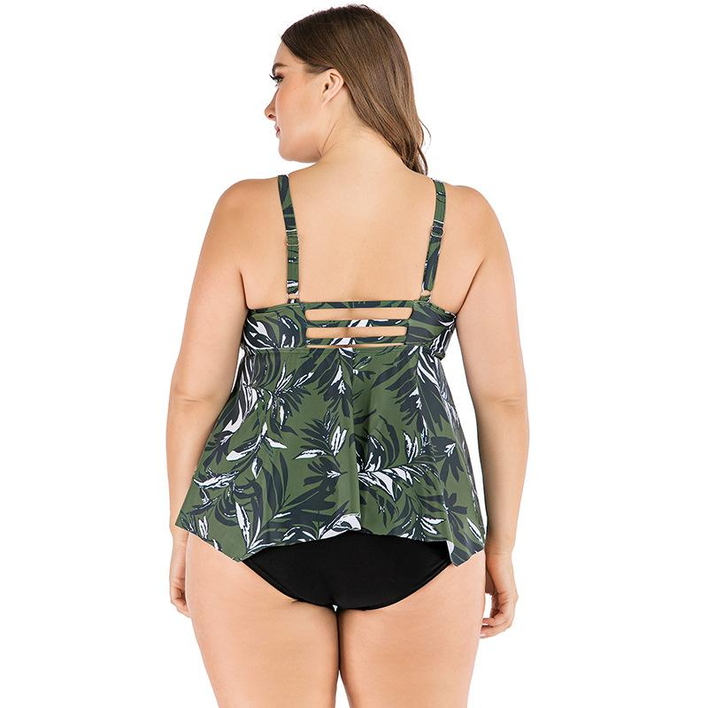 retro printed tankini set big size