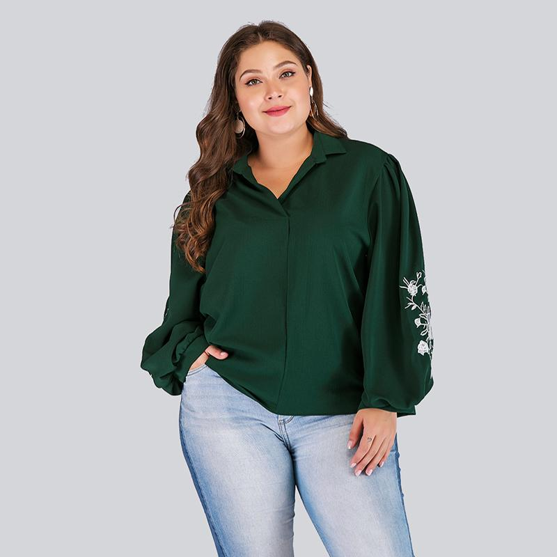 Fashion Embroidery Plus Size Shirts
