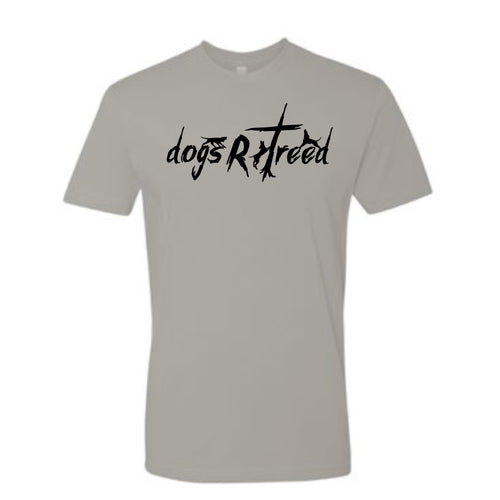 dogsRtreed TEE SHIRT - Logo Short Sleeve T-Shirt - Light Gray