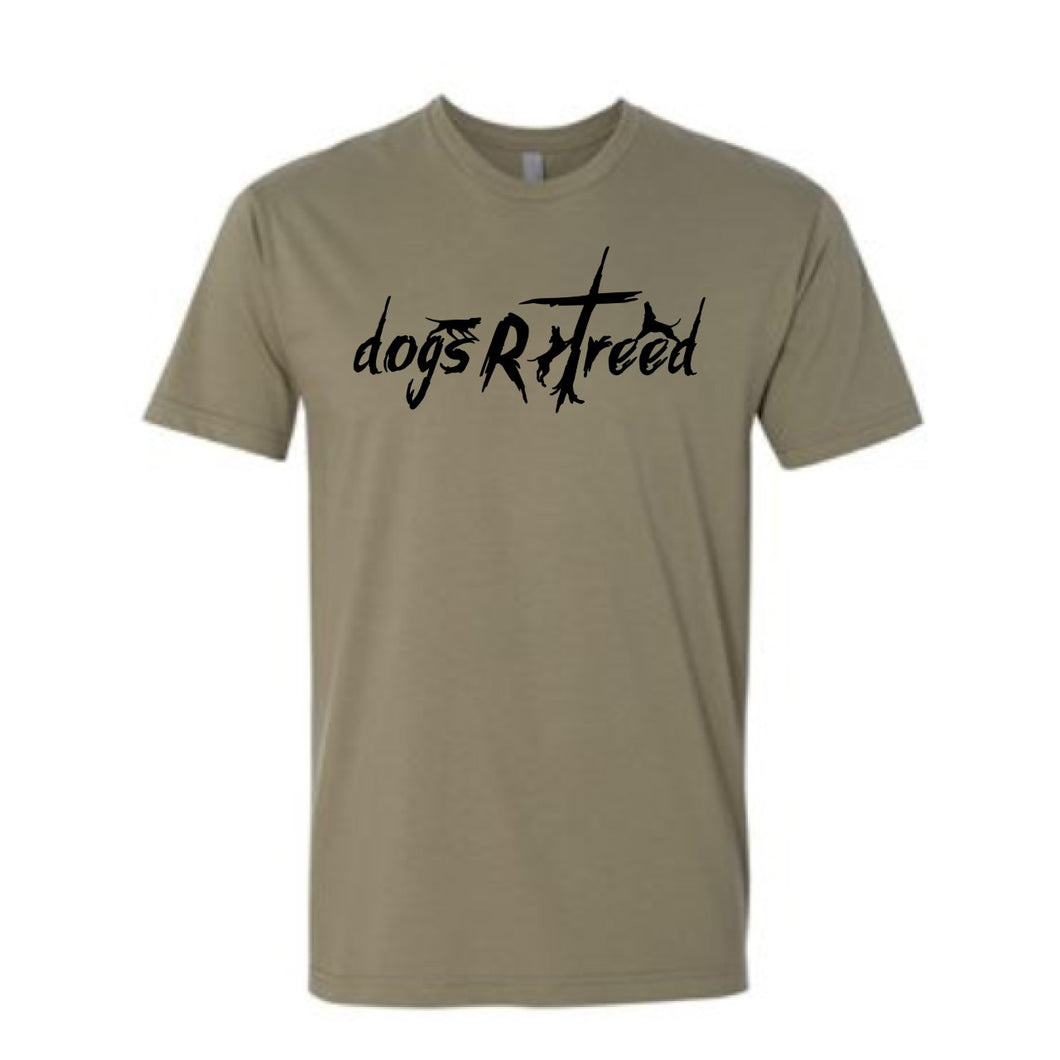 dogsRtreed TEE SHIRT - Logo Short Sleeve T-Shirt - Olive Green