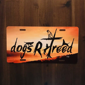 dogsRtreed DECORATIVE LICENSE PLATE