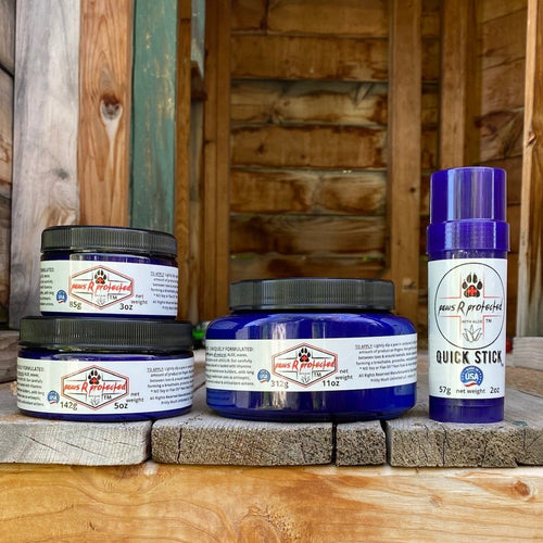 pawsRprotected  ALL-IN-ONE ALL NATURAL PAW PROTECTOR BALM