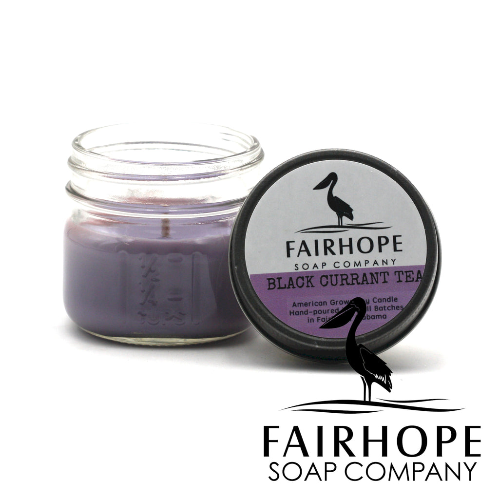 Black Currant Tea American Grown, Eco-Soy Candle