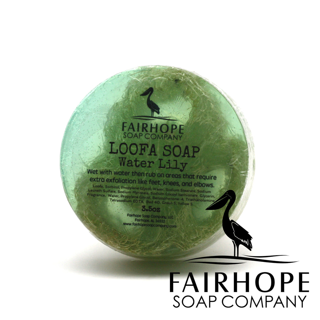 Water Lily Loofa Soap