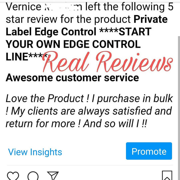****START YOUR OWN EDGE CONTROL LINE****