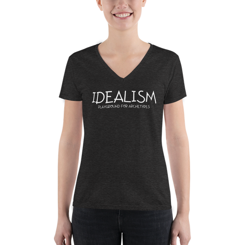 Idealism - Women's Fashion Deep V-neck Tee